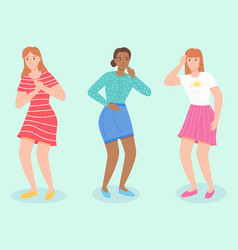 set people with different pain young women vector image