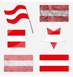 Set with flags of austria vector