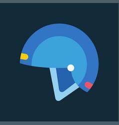 snowboard sport helmet element snowboarding item vector image