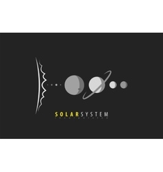 Solar System Sun Planets Universe Space vector image