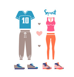 Sportswear for man and woman vector