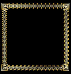square frame with 3d embossed effect ornate vector image