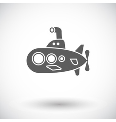 Submarine flat icon vector