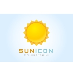 Sun burst star logo icon vector