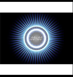 Technological abstract modern splash blue light vector
