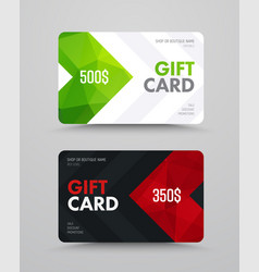 template of a white and black gift card with vector image