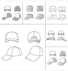 Tennis cap set vector image