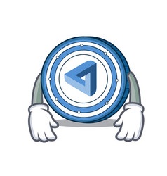 Tired maidsafecoin mascot cartoon style vector