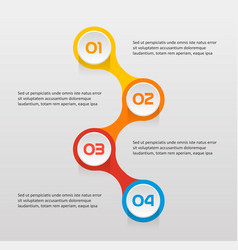 vertical text steps infographics - can vector image