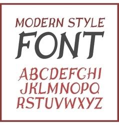 Vintage label font Modern style vector