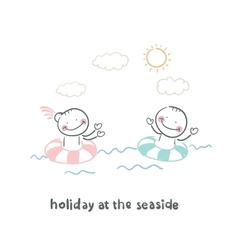 Weekend of the sea vector
