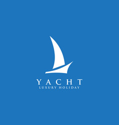 Yacht boat icon logo design template vector