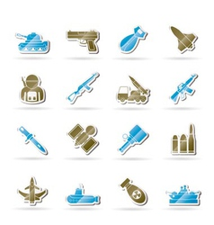 army and arms icons vector image