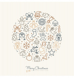 christmas and new year outline icon decoration vector image