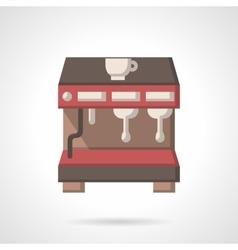 Coffee brewing machine flat design icon vector