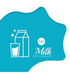 Glass bottle of milk vector