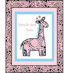 Safari Giraffe vector image