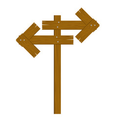 brown wood sign icon image vector image