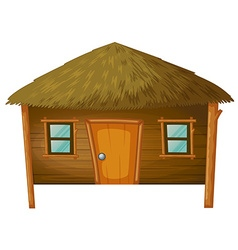 Bungalow made of woods vector image vector image