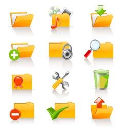 computer folders set vector image vector image