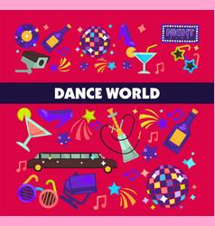 dance world color flat glamor celebration vector image vector image
