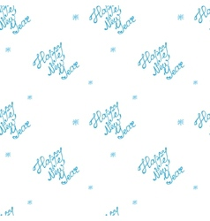 doodle hand drawn happy new year seamless pattern vector image vector image