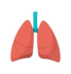 Human lungs cartoon icon vector image vector image