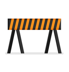 prohibitory road sign icon in flat style isolated vector image vector image