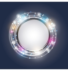 Abstract Golden Shiny Frame vector image
