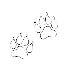 animal tracks sign black dotted icon on vector image