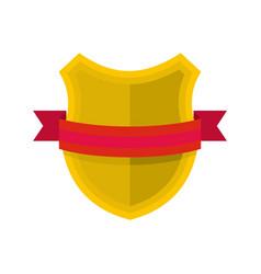 badge retro icon flat style vector image vector image