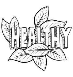 Healthy vector image vector image