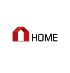 Home logo isolated geometric house vector image vector image
