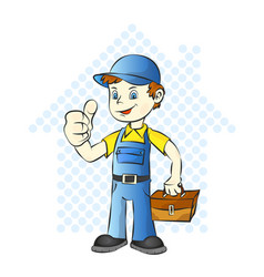 repairman for home vector image vector image
