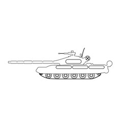 tank outline military equipment icon vector image