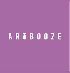 booze abstract art vintage scratched design style vector image