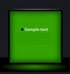 green light box vector image