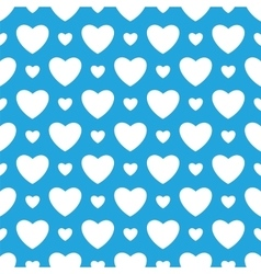 Oktoberfest blue background with white hearts vector