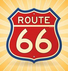 Vintage Route 66 Symbol vector image vector image