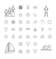 37 competition icons vector