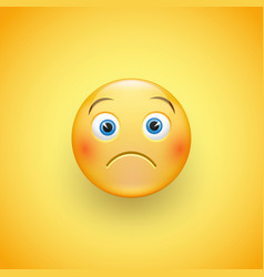 a little sad face of emoticons with a slight vector image