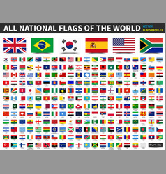 all national flags of the world ratio 4 6 vector image