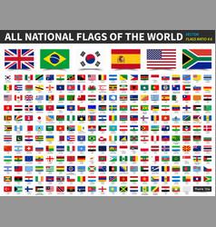 All national flags world ratio 4 6 vector