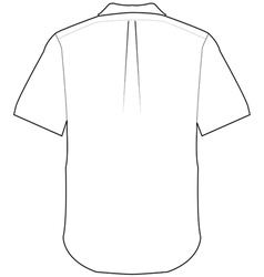 back shirt vector image