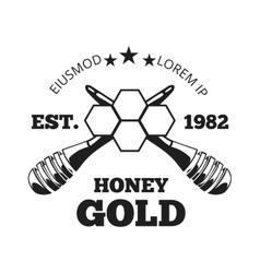 Beekeeper honey label badge emblem in vector