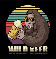 Bigfoot beer retro vector