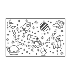 Board game for children icon in outline style vector