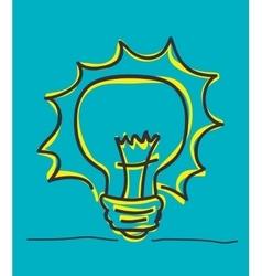 Bulb icon and big idea concept vector