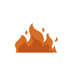 burning fire with orange flames and sparks vector image