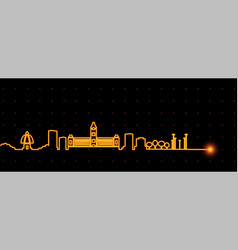 Chennai light streak skyline vector
